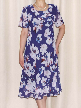 Rochie lejera din voal cu imprimeu floral - Alexandra 17 [0]