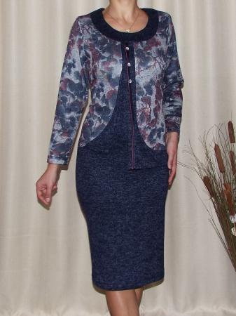 Rochie midi eleganta cu imprimeu floral - Adriana Bleumarin0