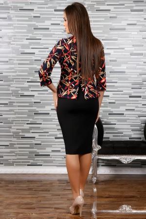 Rochie midi eleganta cu imprimeu multicolor - Adina [1]