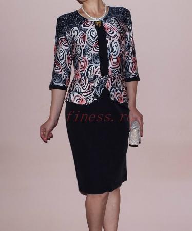 Rochie midi eleganta cu imprimeu si maneca trei sferturi - Zara [2]