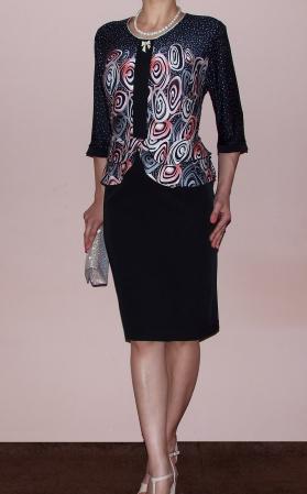 Rochie midi eleganta cu imprimeu si maneca trei sferturi - Zara [1]