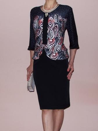 Rochie midi eleganta cu imprimeu si maneca trei sferturi - Zara0
