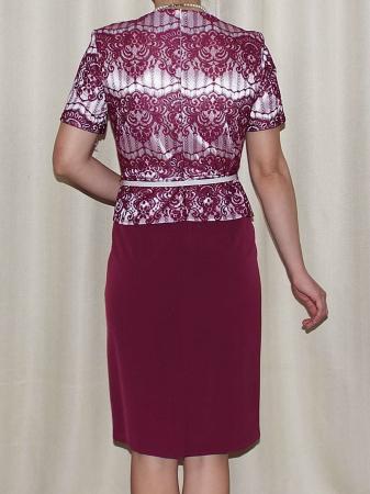 Rochie midi eleganta cu maneca scurta - Casiana Grena1