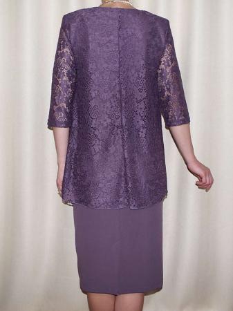 Rochie midi eleganta cu maneca trei sferturi - Anastasia Mov [1]