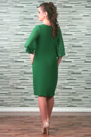 Rochie midi eleganta cu maneca trei sferturi - Cezara Verde [1]