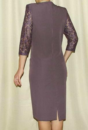 Rochie midi eleganta cu maneca trei sferturi - Ozana Mov1