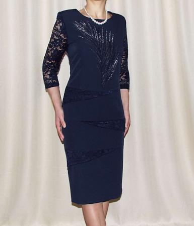 Rochie midi eleganta cu maneca trei sferturi - Maria Bleumarin0