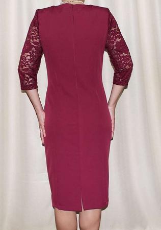 Rochie midi eleganta din stofa si dantela - Maria Grena1