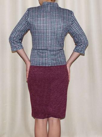 Rochie midi tricotata cu maneca trei sferturi - Valeria Grena1