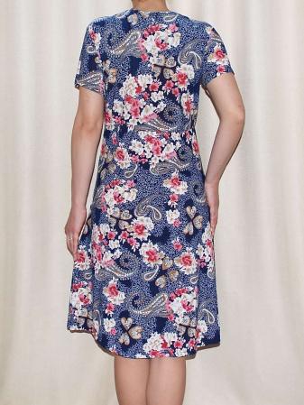Rochie office cu imprimeu floral si buzunare - Miriam 41