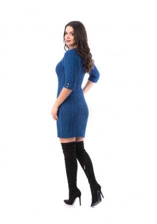 Rochie scurta tricotata cu maneca trei sferturi - R20021