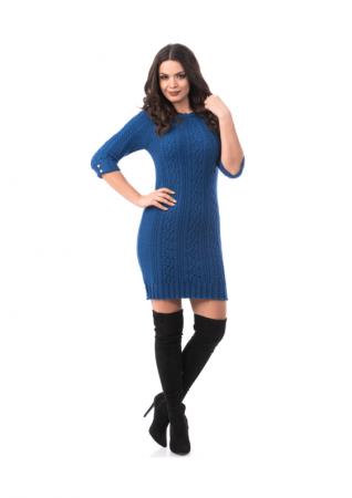 Rochie scurta tricotata cu maneca trei sferturi - R20020