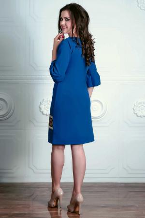 Rochie traditionala albastra cu maneca clopot- Irina Albastru [1]