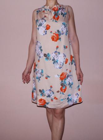 Rochie vaporoasa de vara cu imprimeu floral - Lara2
