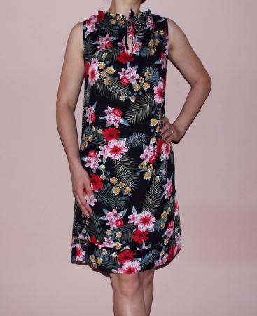 Rochie vaporoasa de vara cu imprimeu floral - Lara3