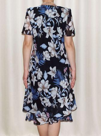 Rochie vaporoasa din voal cu imprimeu floral - Alexandra 61