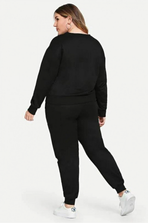 Trening dama negru din bumbac - TGD061