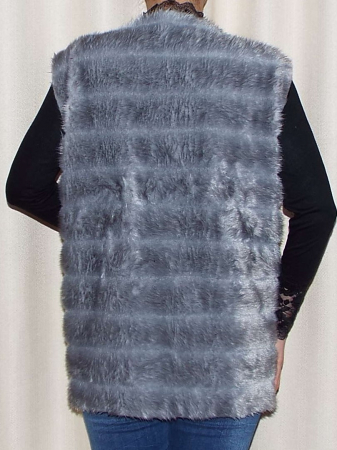 Vesta dama din blana ecologica - Melisa Gri1