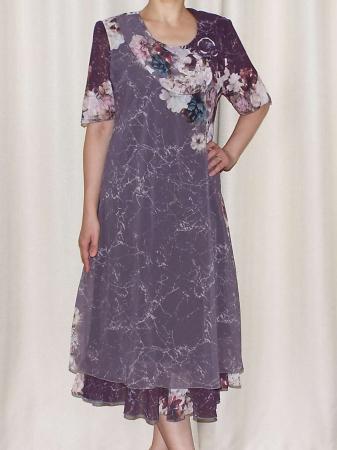Rochie eleganta din voal cu maneca scurta - Victoria 16 [0]