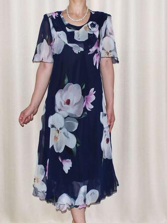 Rochie de vara din voal cu imprimeu si brosa - Victoria 8 [0]
