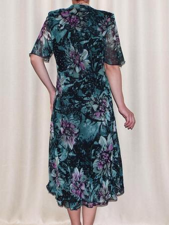 Rochie de vara din voal cu brosa detasabila – Victoria Verde2