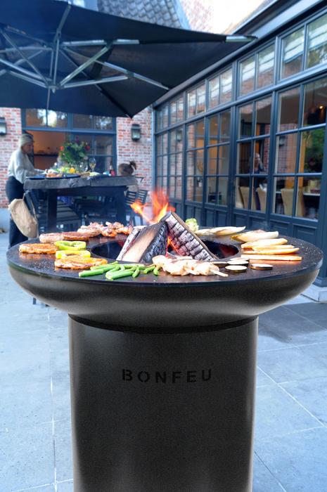 Grătar cu plită BonBiza Black 2