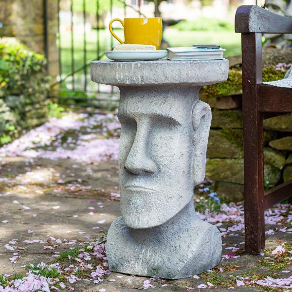 Măsuță de grădină Moai, H52 x D34 cm 0