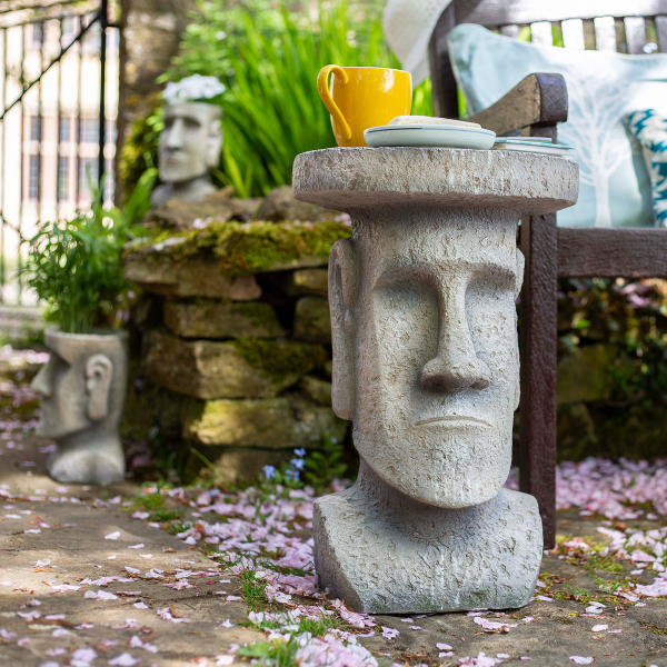 Măsuță de grădină Moai, H52 x D34 cm 2