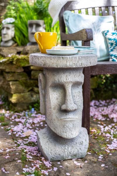 Măsuță de grădină Moai, H52 x D34 cm 3