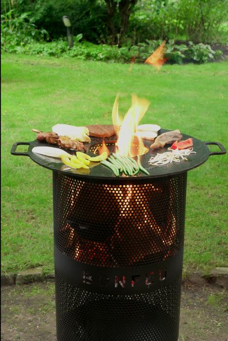 Set Vatră de foc cu grătar și plită BonVes [2]