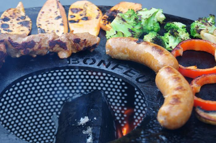 Set Vatră de foc cu grătar și plită BonVes [4]