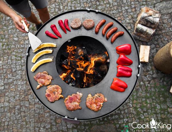 Vatră de foc exterior cu plită și grill Santos 4