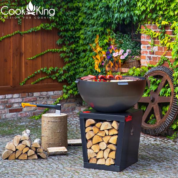 Vatră de foc exterior cu plită și grill Santos 0