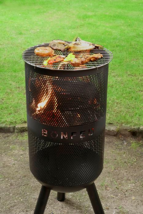 Vatră de foc cu grătar BonVes [3]