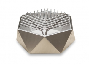 Mini Grill Top Table Inox. D37 cm1