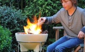 Set bol ceramic pentru foc + stand1