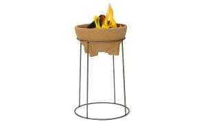 Set bol ceramic pentru foc + stand2