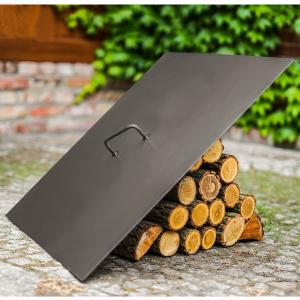 Capac pătrat pentru vatră de foc, oțel solid0