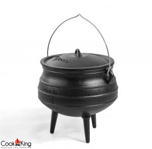 Ceaun fontă cu capac African Pot3