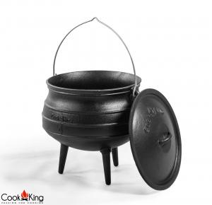 Ceaun fontă cu capac African Pot4