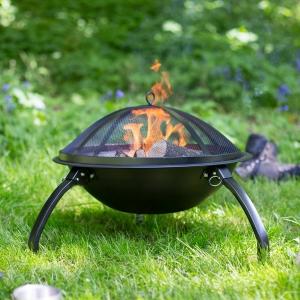 Grătar pliabil Camping, D54 cm0