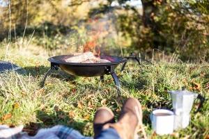 Grătar pliabil Camping, D54 cm2