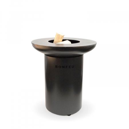 Grătar cu plită BonBiza Black- D 80cm x H 100cm1