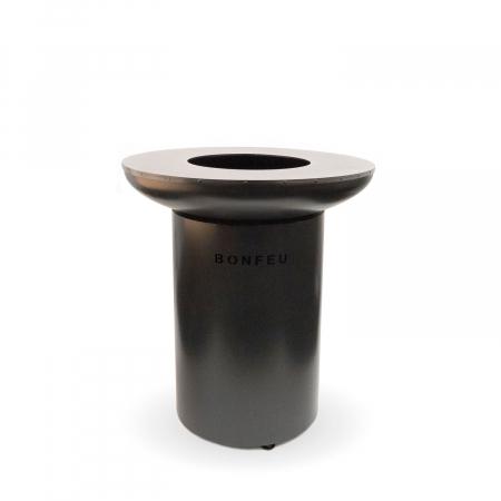 Grătar cu plită BonBiza Black- D 80cm x H 100cm3