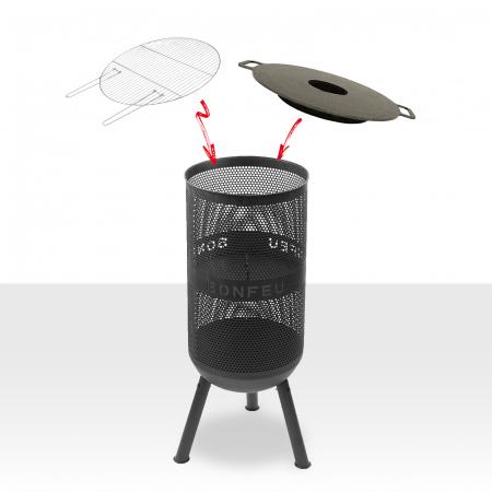 Set Vatră de foc cu grătar și plită BonVes [0]
