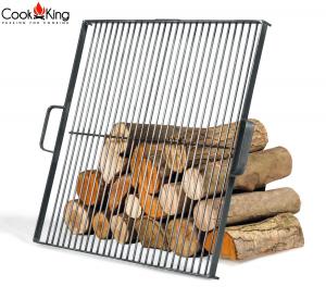 Grătar pătrat pentru vatră de foc, oțel solid1