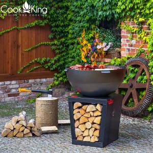 Vatră de foc, plită și grill Santos0