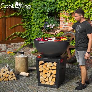 Vatră de foc, plită și grill Santos1