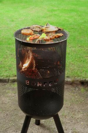 Set Vatră de foc cu grătar și plită BonVes [6]