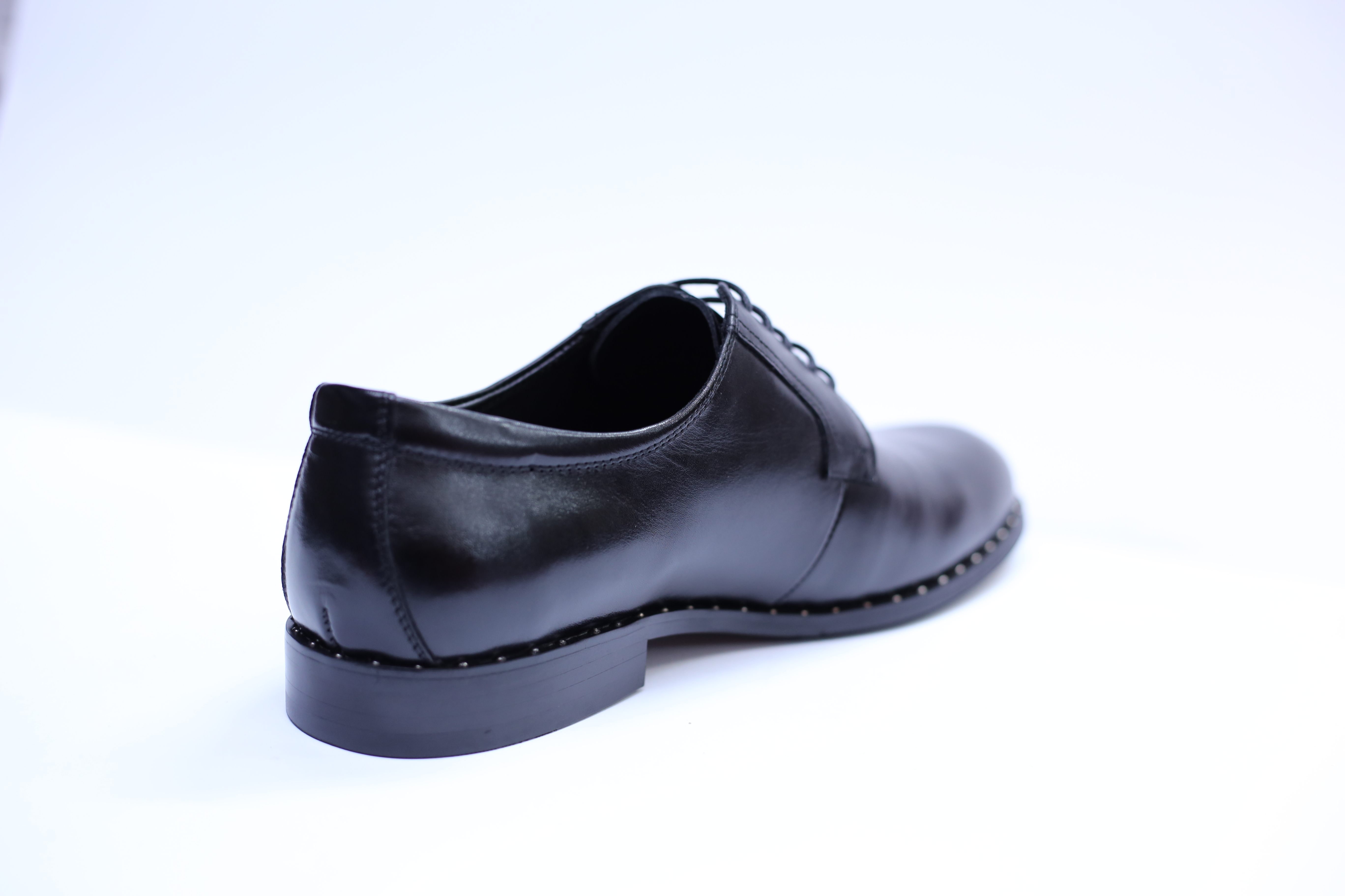 Pantofi barbati din piele naturala, Van, SACCIO, Negru, 39 EU [3]